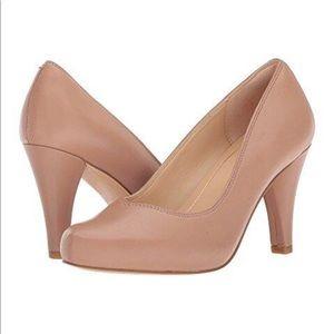 Clark's Dalia Rose Nude Leather Pumps / Heels
